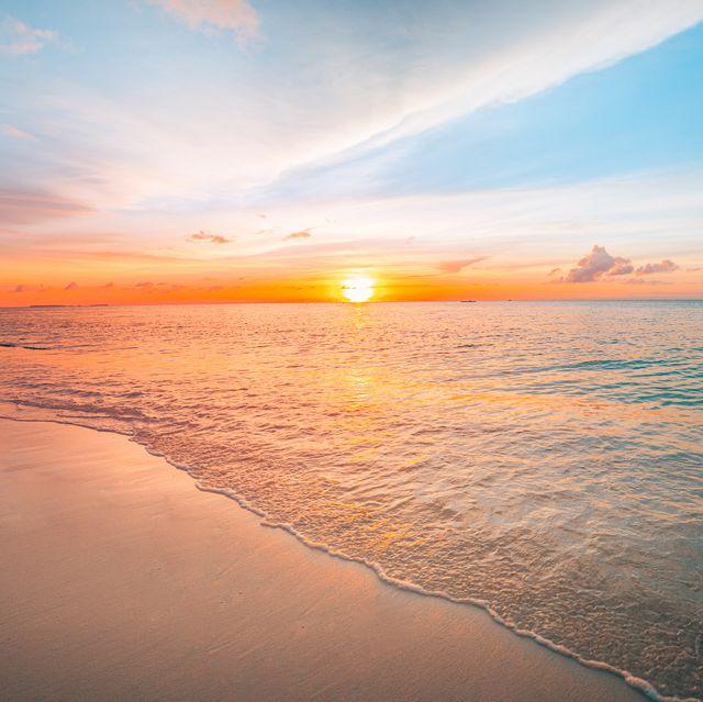 Sunset sea landscape.