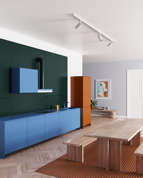 kleurrijke keukens elle decoration