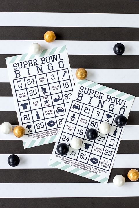 super bowl bingo super bowl party ideas