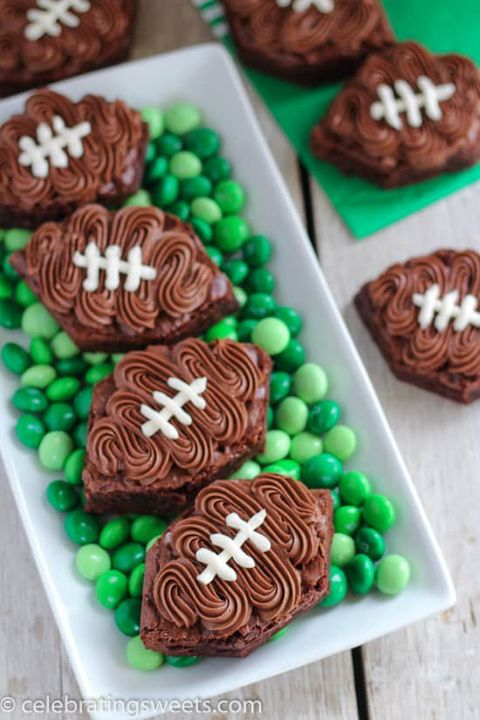 super bowl desserts football brownies
