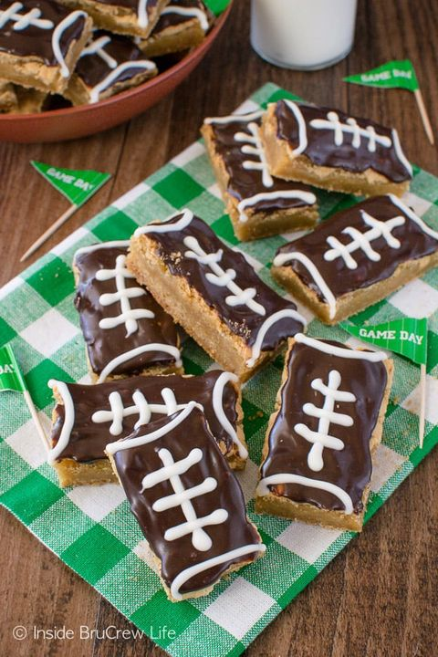 super bowl desserts football cookie bars