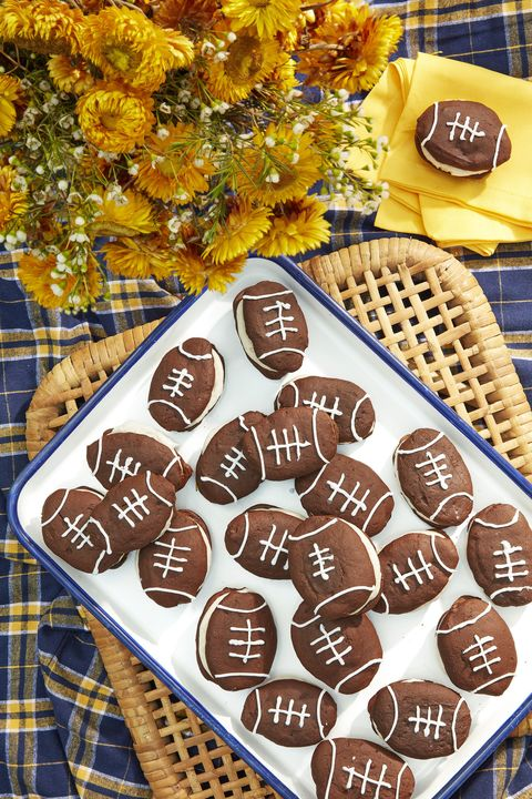 super bowl desserts football whoopie pies