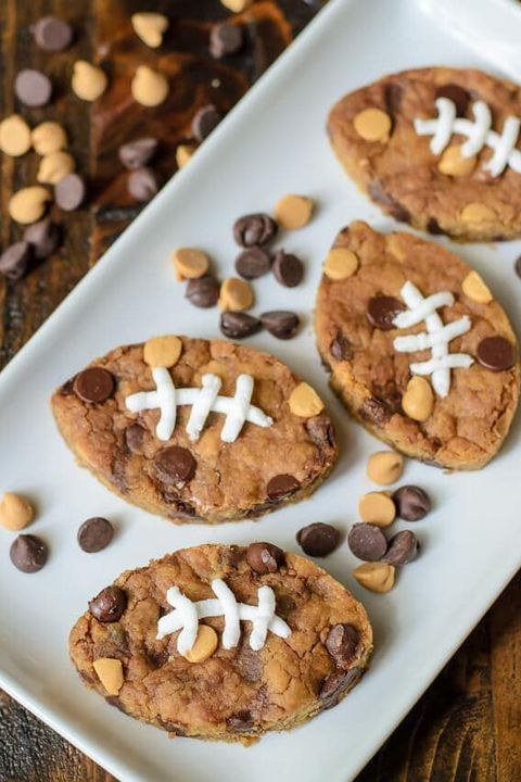 super bowl desserts peanut butter blondies
