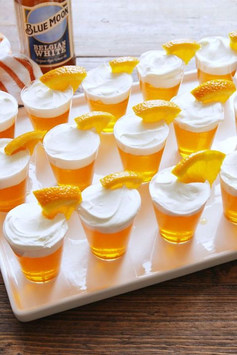 super bowl drinks - blue moon jello shots
