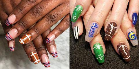 Super Bowl 2019 Nail Art Ideas - Best Football Nail Art