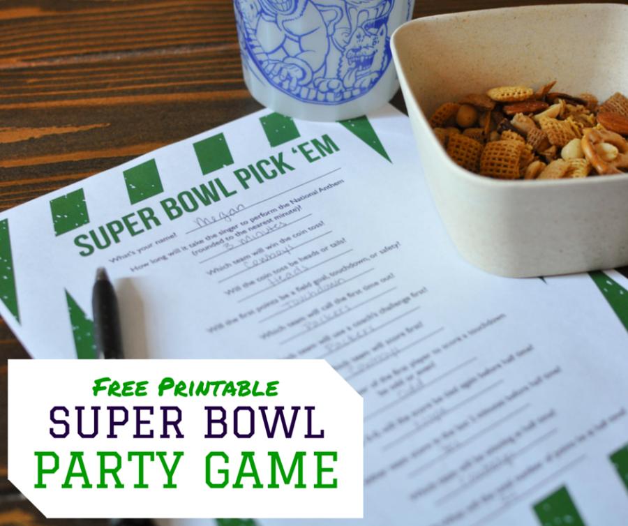 photo regarding Bowl Pick Em Printable Sheet named 15 Perfect Tremendous Bowl Occasion Online games - Entertaining Pursuits for Tremendous