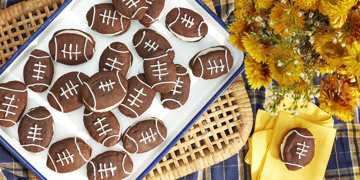football whoopie pies super bowl recipes