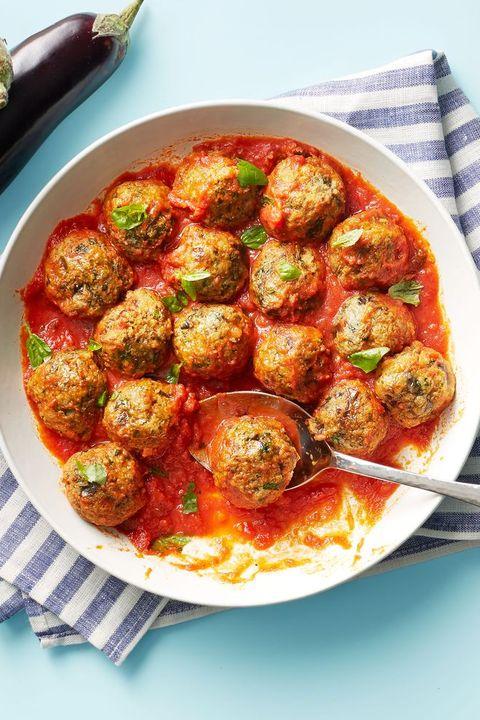 super bowl snacks eggplant parmesan meatballs