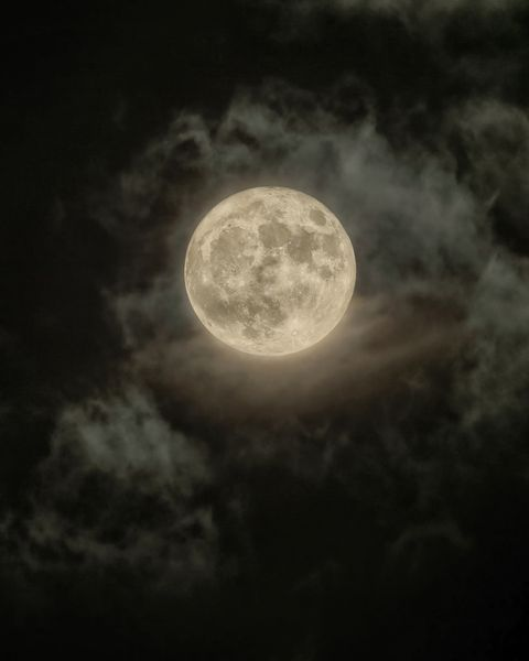 Super Moon over Budapest