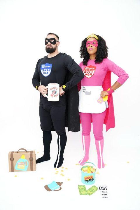 couples halloween costume superparents