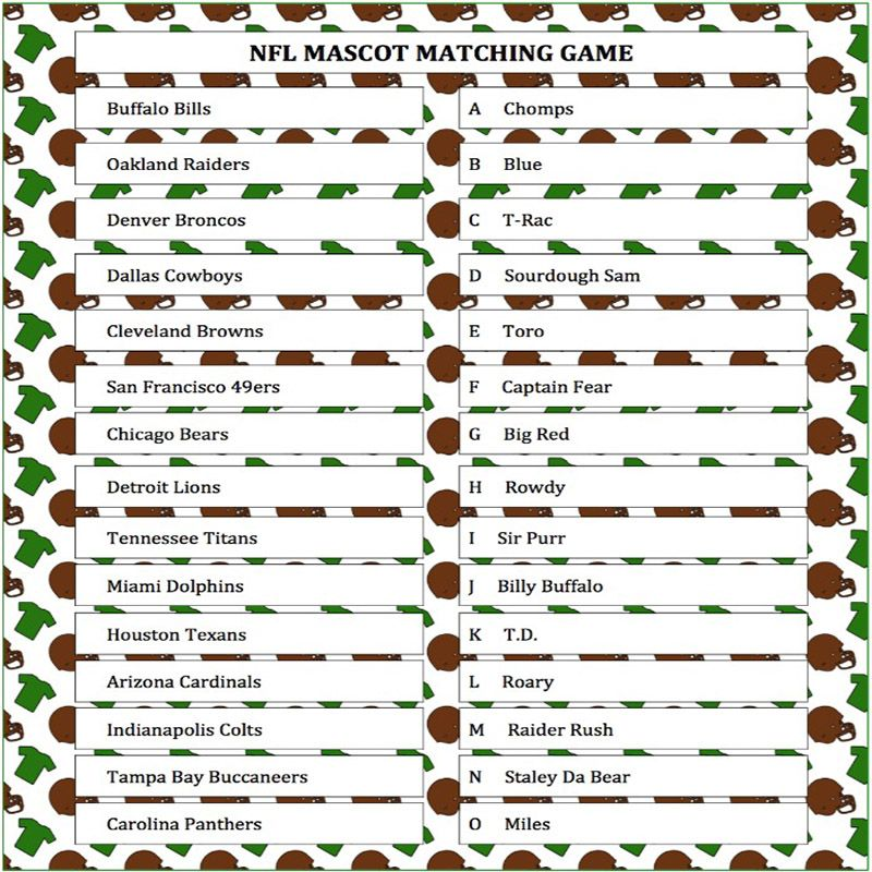 This is a graphic of Super Bowl Party Games Printable regarding youth