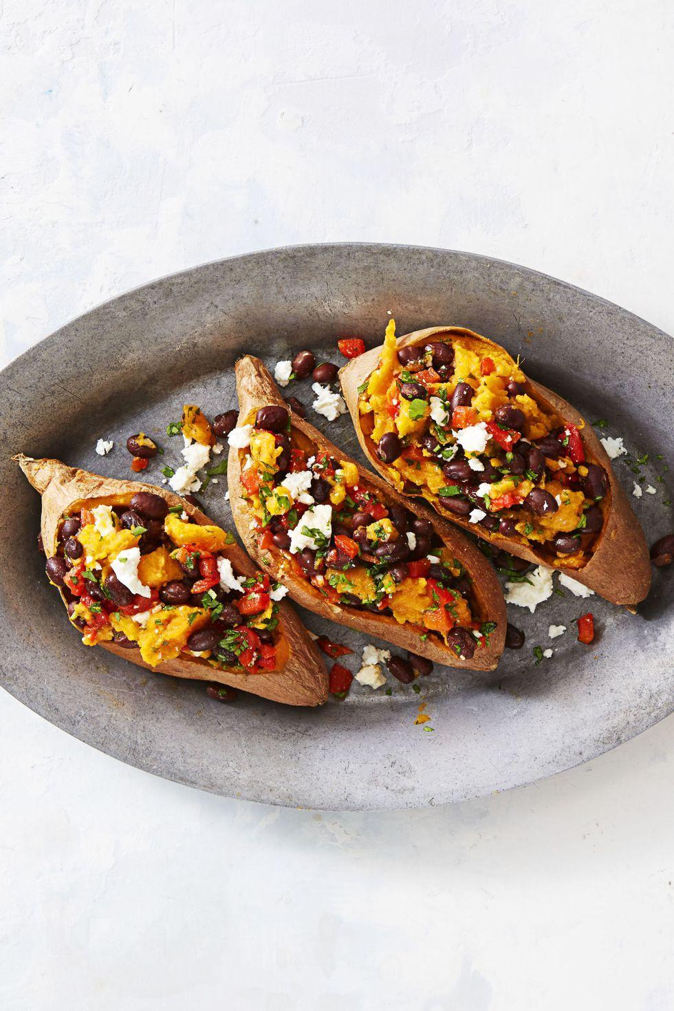 supercarb loaded sweet potatoes - vegetarian thanksgiving recipes