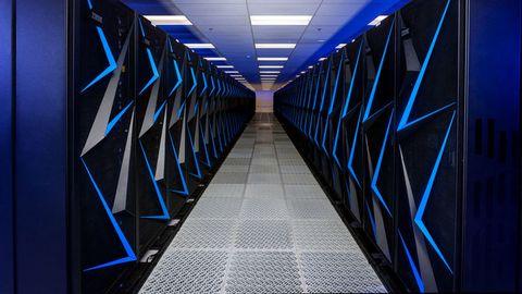 Blue, Architecture, Light, Line, Symmetry, Cobalt blue, Electric blue, Infrastructure, Design, Technology,
