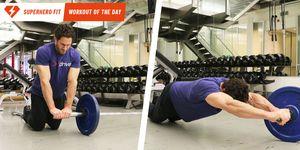 ランドマイン トレーニング ,ランドマイン ロールアウト,腹筋,    美しい腹筋