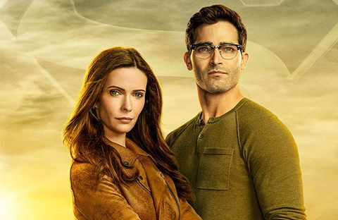 tyler hoechlin as clark kent, bitsie tulloch as lois lane, superman and lois