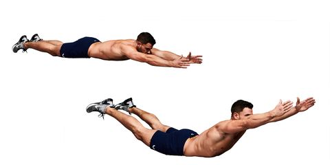 home back workouts, dumbbells, bodyweight
