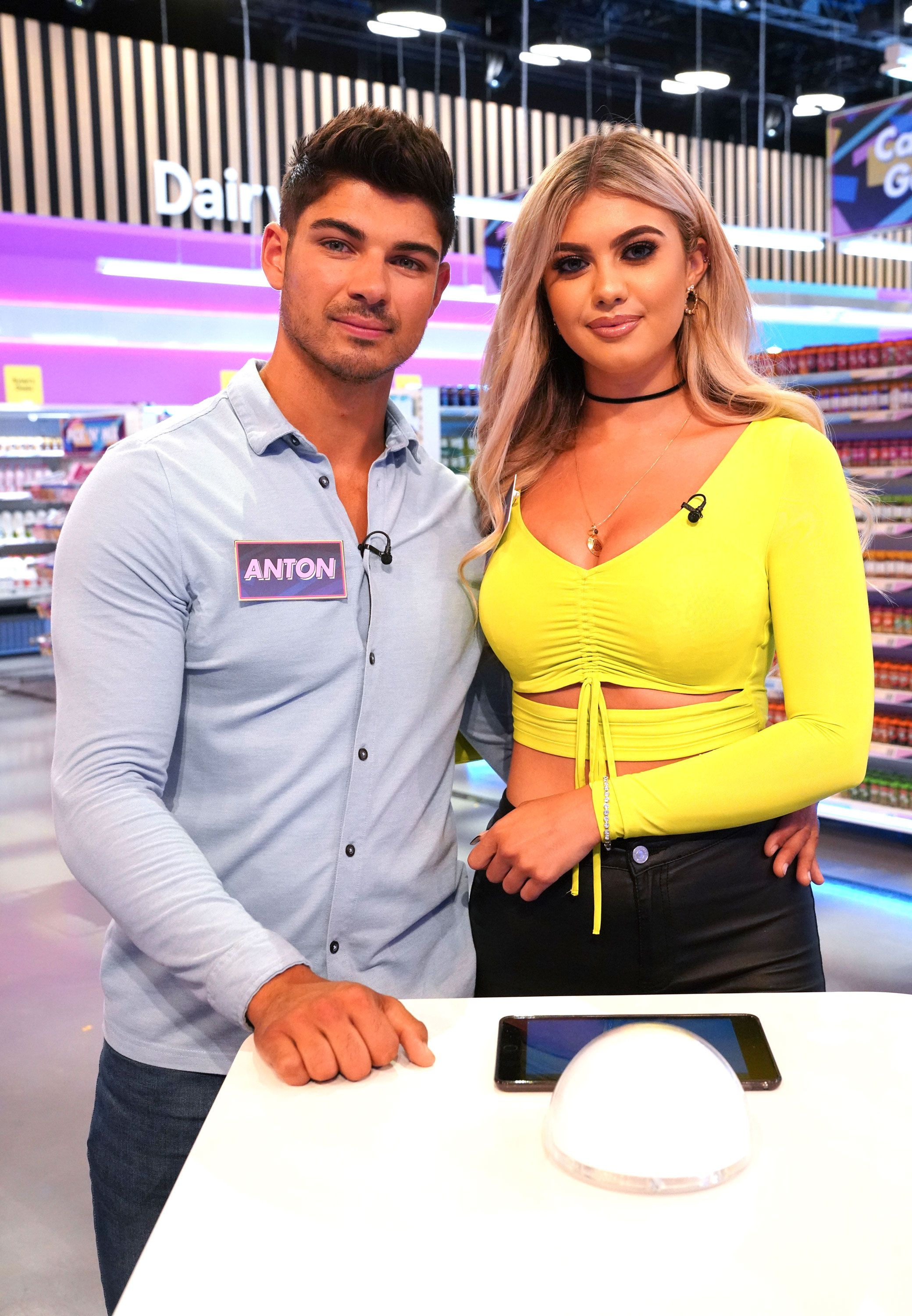 Love Island exes Anton and Belle have very awkward appearance on Supermarket Sweep