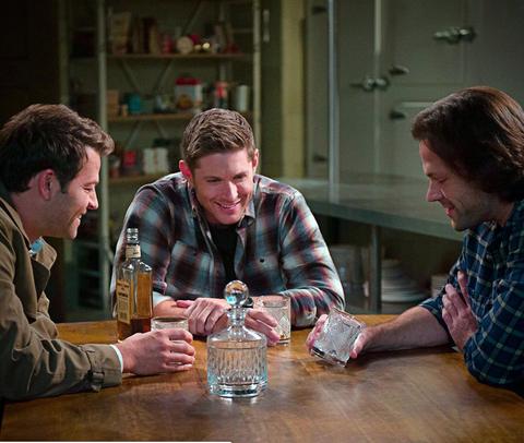 Supernatural, Castiel (Misha Collins), Sam (Jared Padalecki), Dean (Jensen Ackles)