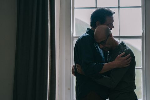 colin firth as sam and stanley tucci as tusker in supernova