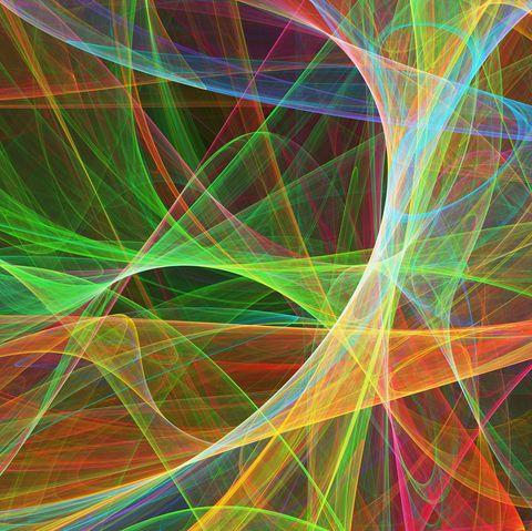 Superstrings, conceptual artwork