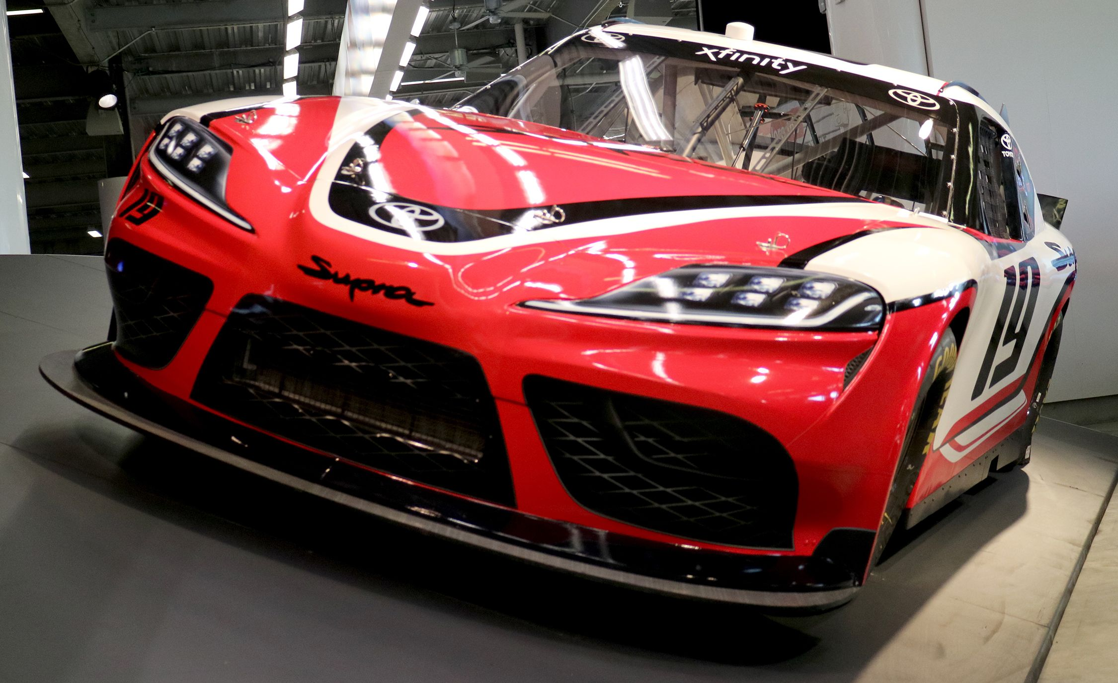 Up Close With The Nascar Xfinity Series Toyota Supra Race Car Trd Racing Feature And Driver