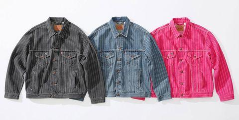 Clothing, Jacket, Outerwear, Denim, Jeans, Sleeve, Textile, Leather jacket, Pocket, Leather,
