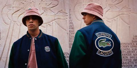 3d4cd6da6541 The Latest Supreme x Lacoste Collab Will Make Your  90s Style Dreams ...