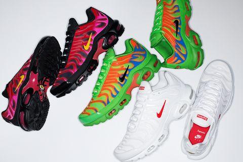 ventajoso partido Republicano honor  Supreme x Nike Air Max Plus: las zapatillas neón para hombre que llegan del  2000