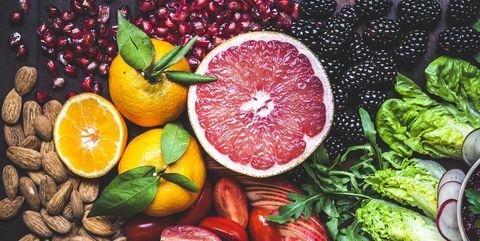Healthy Vegan Snack Board Pink Grapefruit