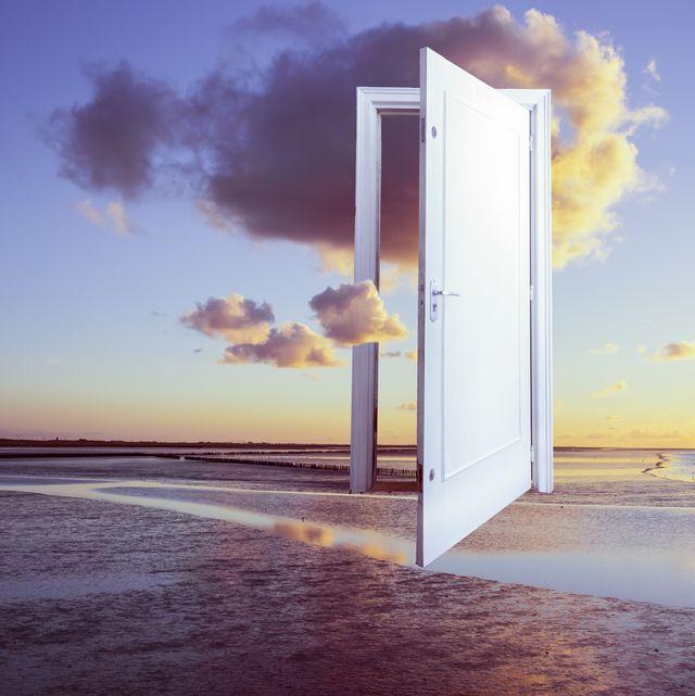 surrealistic door to freedom