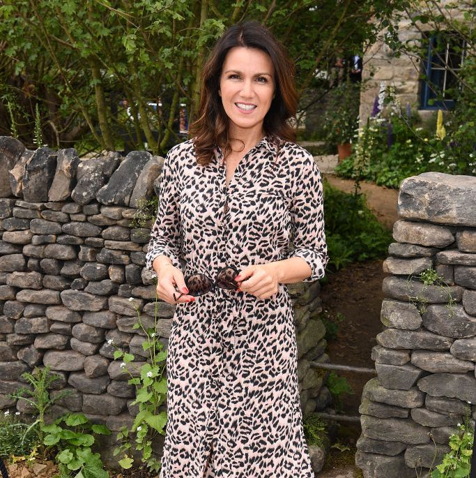 Susanna Reid wows in Oasis leopard-print shirt dress at the Chelsea Flower Show