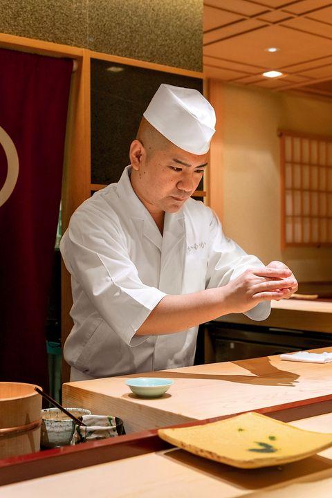 店長の菊池さん 鮨かねさか パレスホテル東京