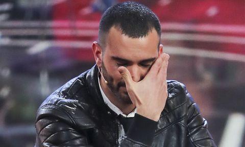 Suso Álvarez llora en el plató de GH VIP 6
