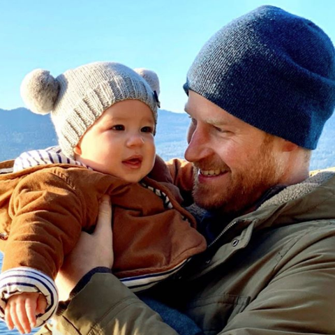 prince harry and meghan markle share unseen photo of archie prince harry and meghan markle share
