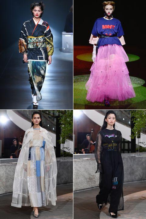 Clothing, Fashion, Fashion design, Fashion model, Dress, Outerwear, Haute couture, Formal wear, Costume, Fashion show,