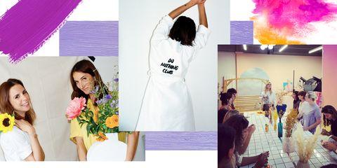 Hairstyle, Sleeve, Shoulder, Petal, Purple, Violet, Lavender, Bouquet, Magenta, Fashion,