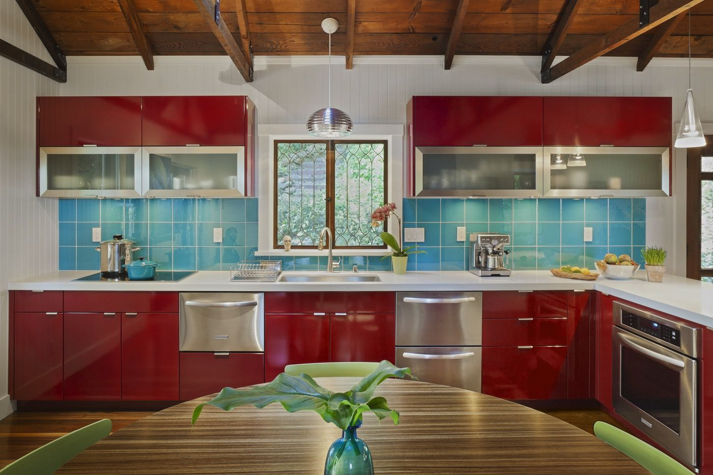 Delicieux Red Kitchens