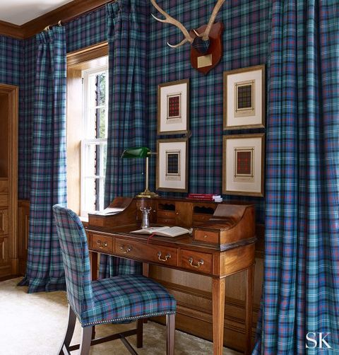 Best Tartan Interiors Suzanne Kasler - Elle Decor