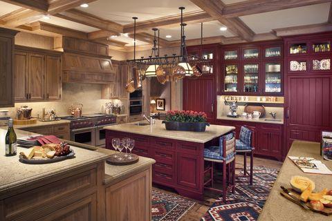 exciting red kitchen decor | 30+ Best Red Kitchens - Red Kitchen Decor