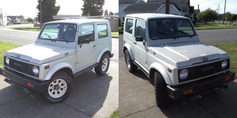 Land vehicle, Vehicle, Car, Automotive tire, Tire, Suzuki, Sport utility vehicle, Hardtop, Suzuki sj, Automotive wheel system,