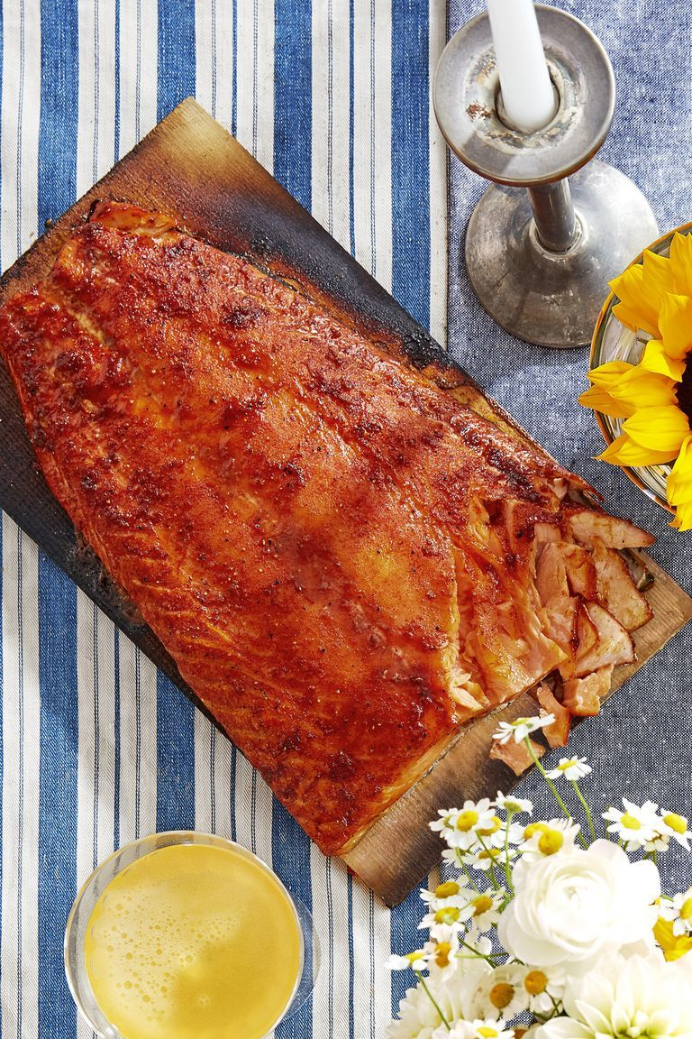 25 Easy Healthy Dinner Recipes - Sweet-and-Smoky Cedar-Planked Salmon