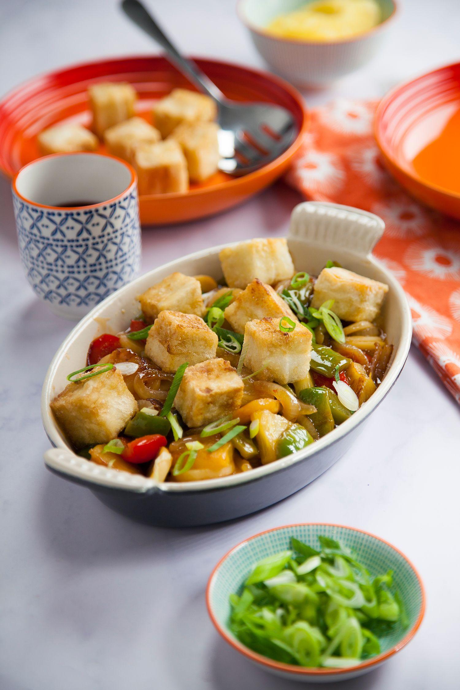vegan sweet and sour tofu