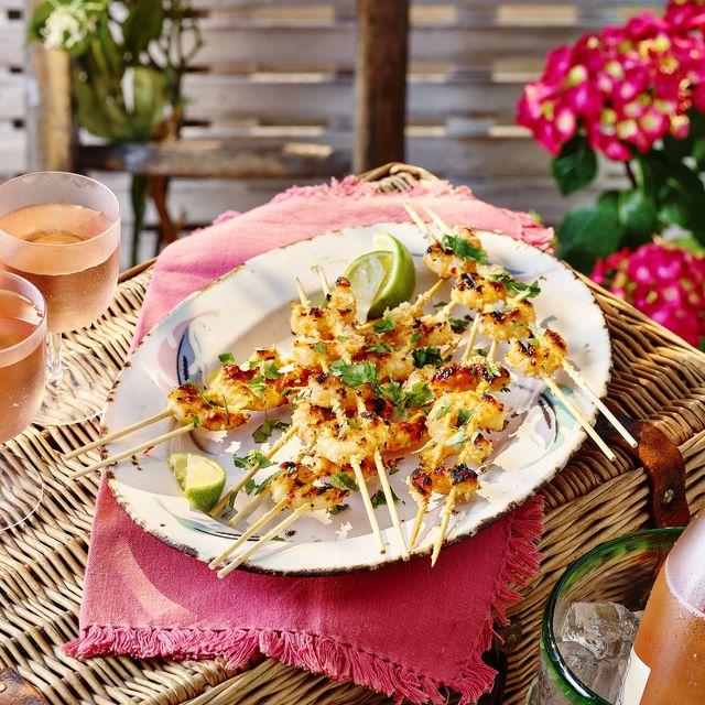 best prawn recipes sweet chilli prawn skewers