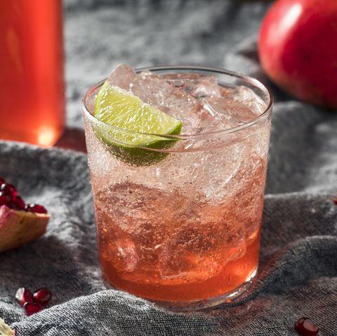 Sweet Homemade Pomegranate Grenadine Cocktail
