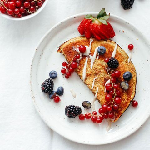 Sweet Omelet with Red Currants