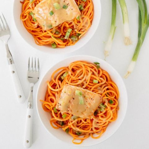 Sweet potato noodles.