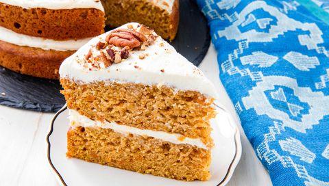 Dish, Food, Cuisine, Snack cake, Ingredient, Baked goods, Dessert, Carrot cake, Pumpkin bread, Gluten,