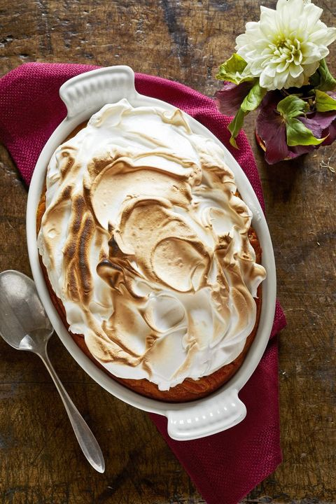 sweet potato casserole with homemade marshmallow