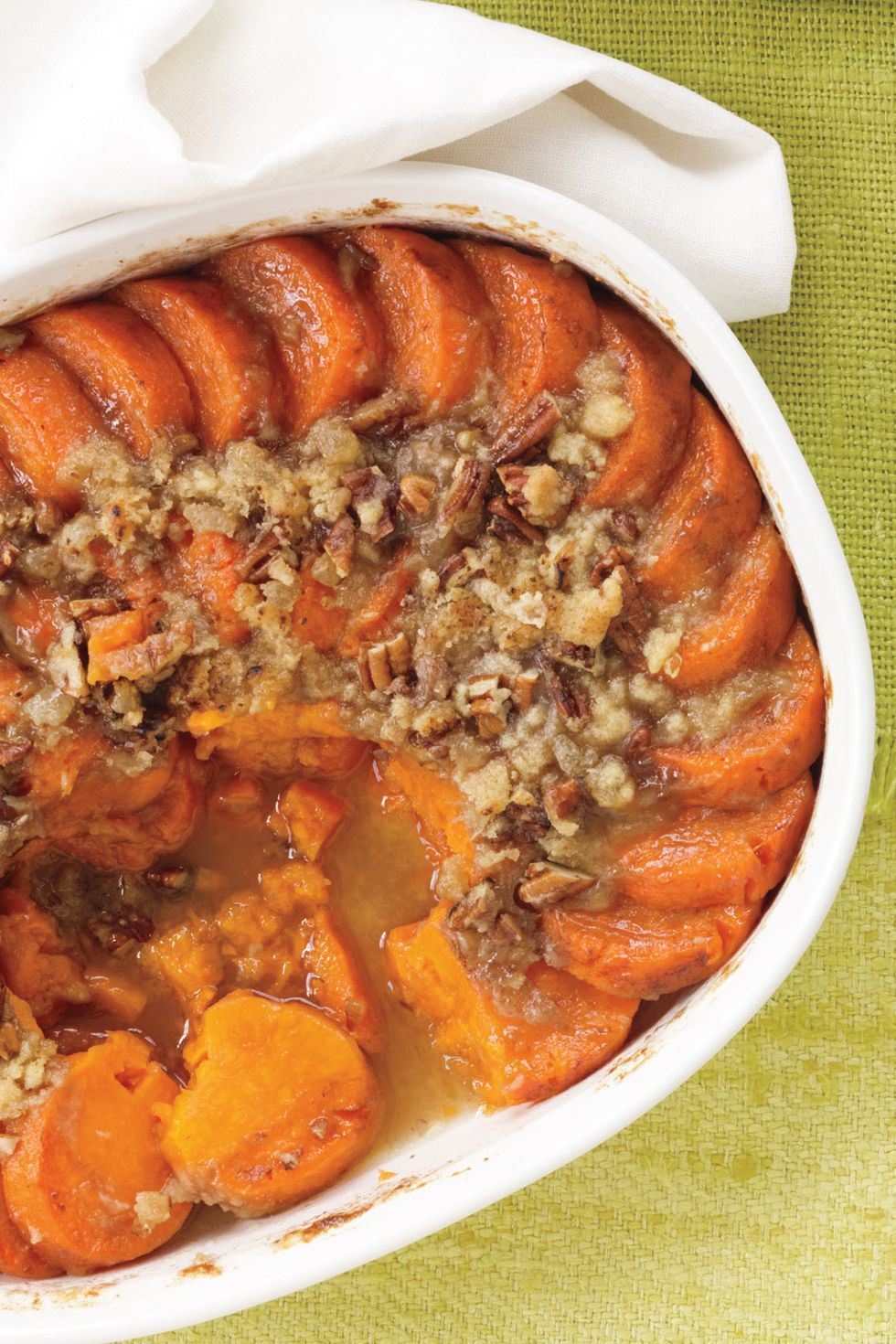 Sweet Potato Gratin with Pecan-Ginger Streusel
