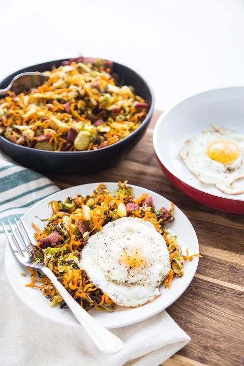 sweet potato recipes brussels sprouts hash